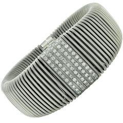 Verdi Diamond White Gold Flexible Bracelet