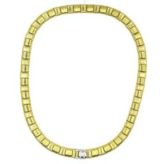 Roberto Coin Appassionata Diamond Clasp Yellow Gold Necklace