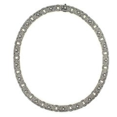 Six Carat Diamond 18 Karat White Gold Choker Necklace