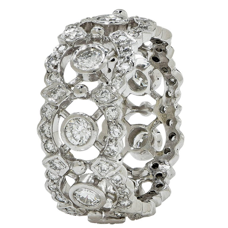Platinum Diamond Eternity Band Ring 2