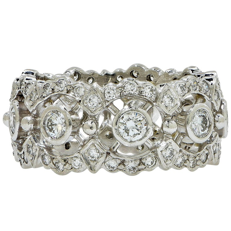 Platinum Diamond Eternity Band Ring 1
