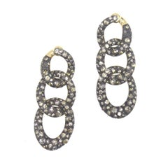 Pomellato Tango Brown Diamond 18 Karat Rose Gold Drop Earrings