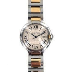 Cartier Ballon Bleu 18 Karat Rose Gold Stainless Steel Automatic Watch