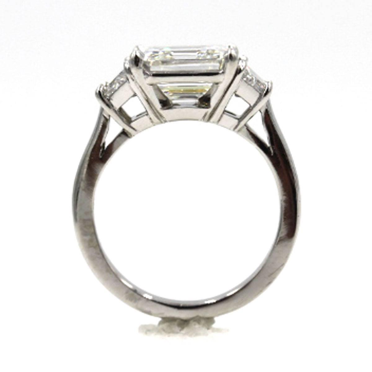 Cartier 3 17 Carat Three Diamond Platinum Engagement Ring at 1stdibs