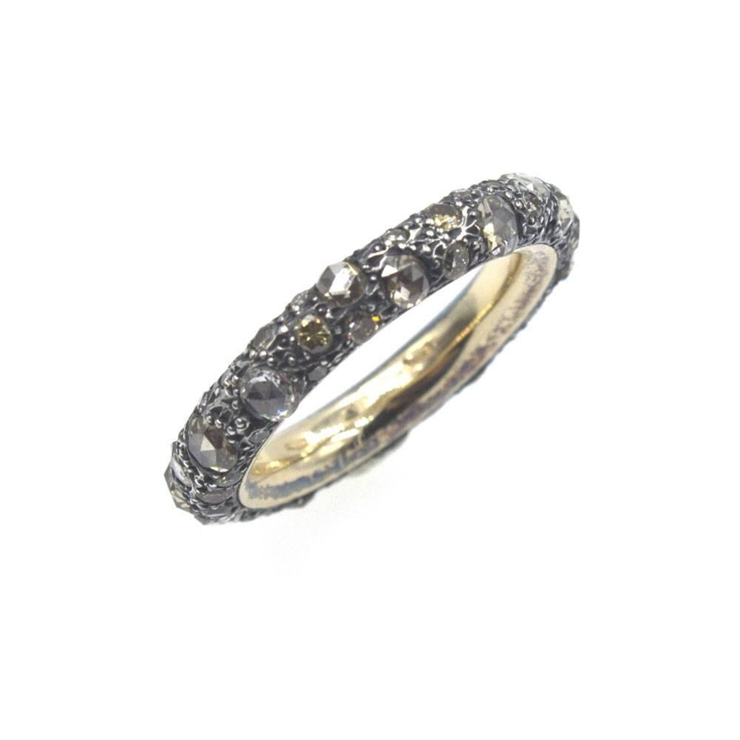 white ef gallery goldclear bands diamond lyst in jewelry product multi ring normal collection spiral metallic