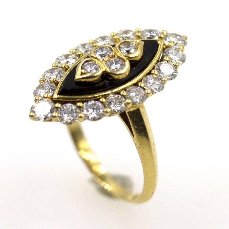 Modern Van Cleef & Arpels Diamond Onyx Vintage Ring For Sale