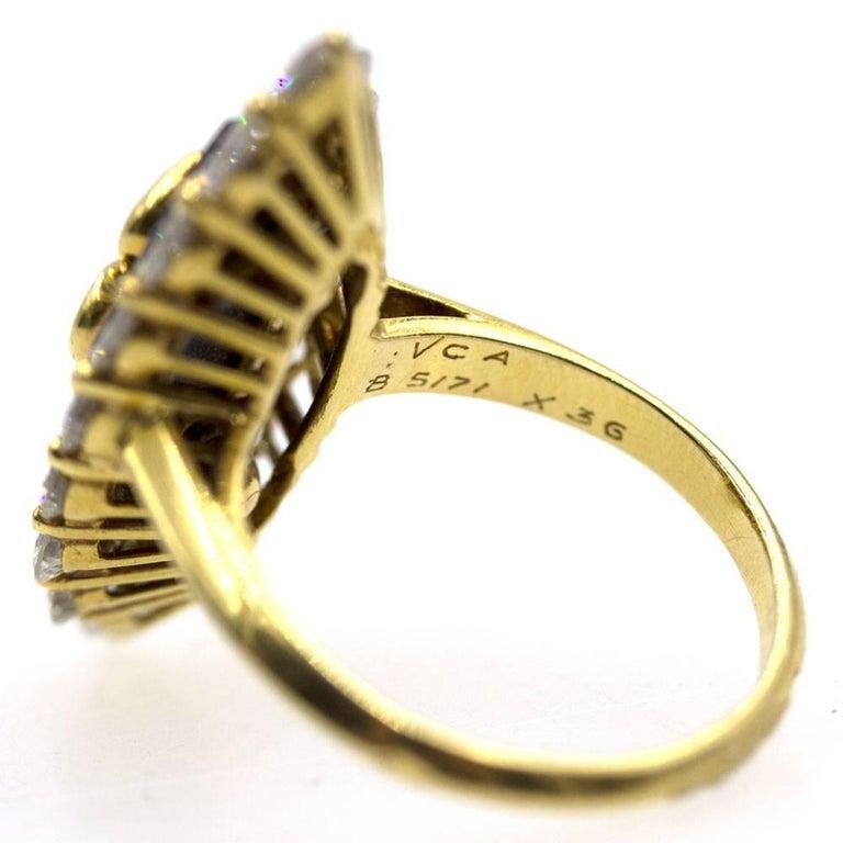 Women's Van Cleef & Arpels Diamond Onyx Vintage Ring For Sale