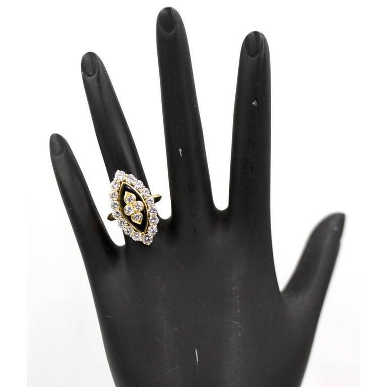 Van Cleef & Arpels Diamond Onyx Vintage Ring For Sale 3