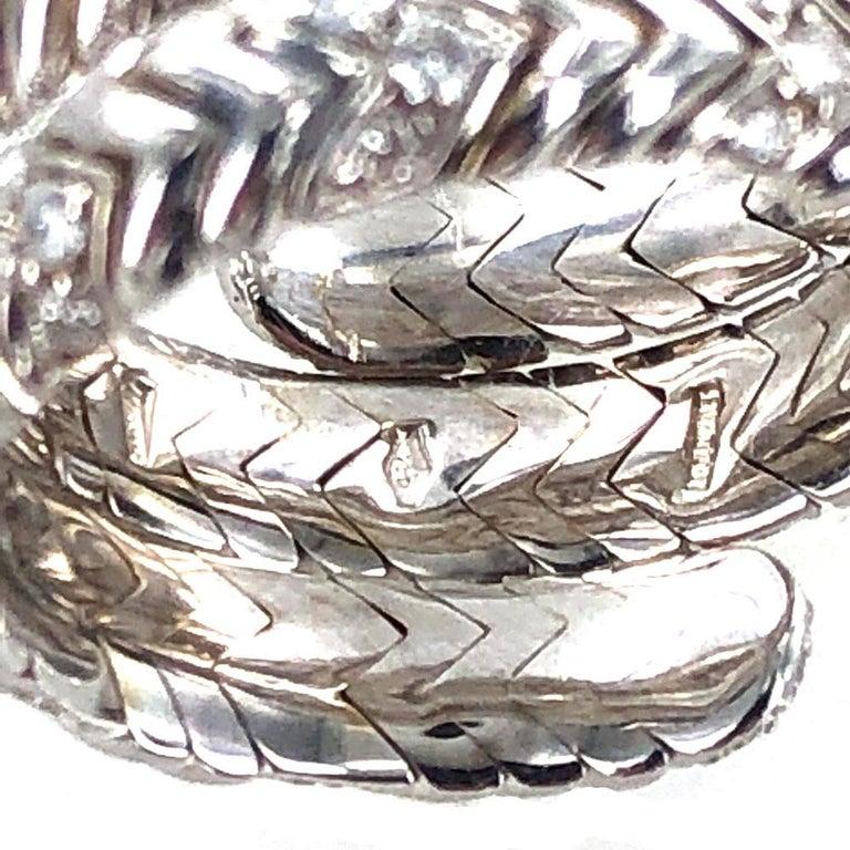 Bvlgari Spiga Diamond 18 Karat White Gold Ring For Sale 1