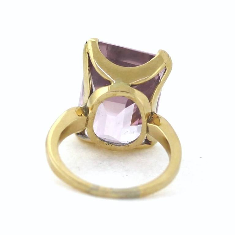 Pink Morganite Gold Ring For Sale at 1stdibs