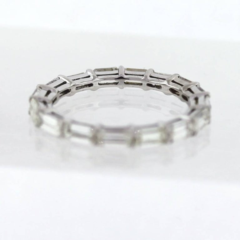 East West Bands: East To West Emerald Cut Diamond Eternity Band Made In