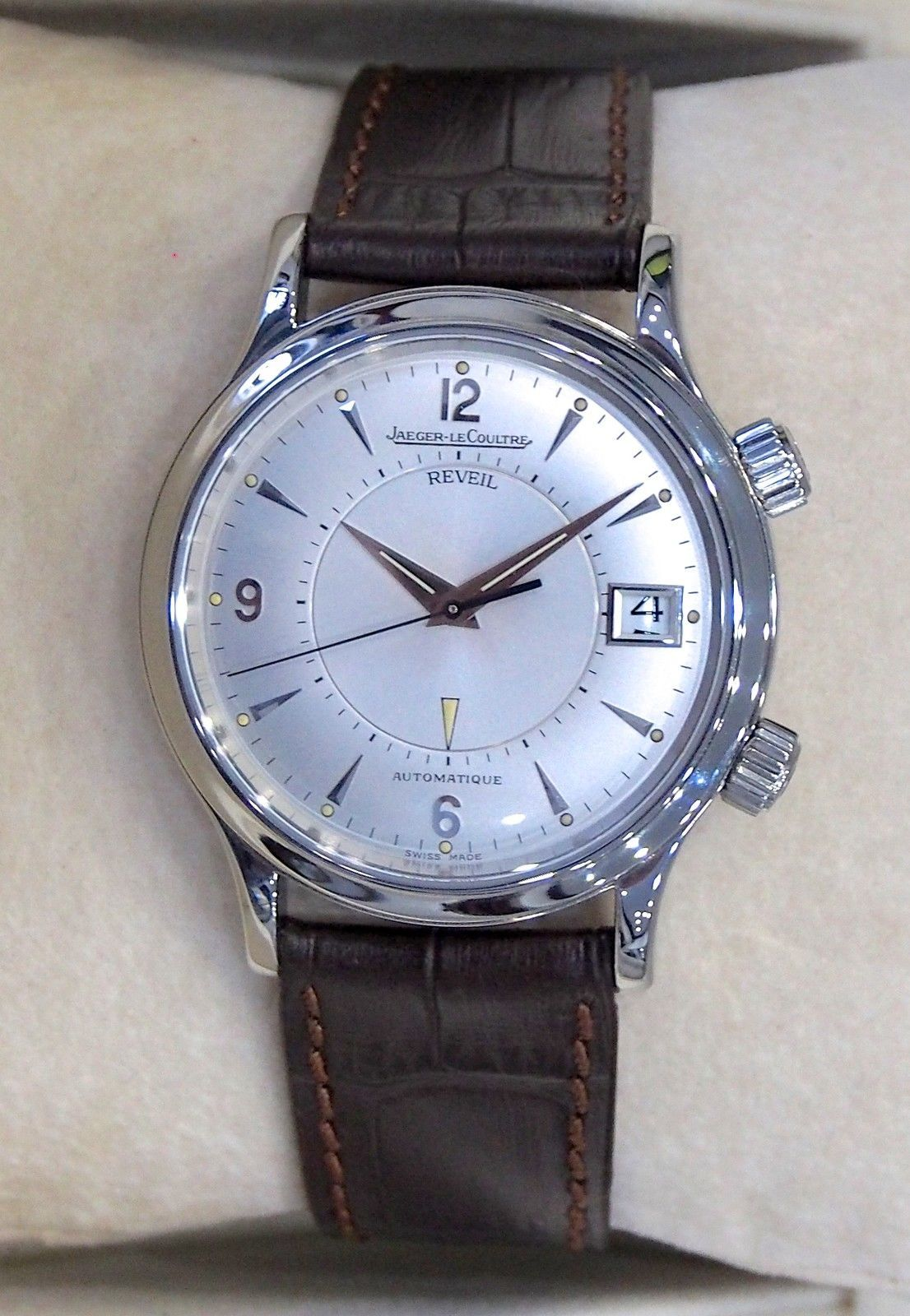 Jaeger LeCoultre Stainless Steel Master Control Reveil ...