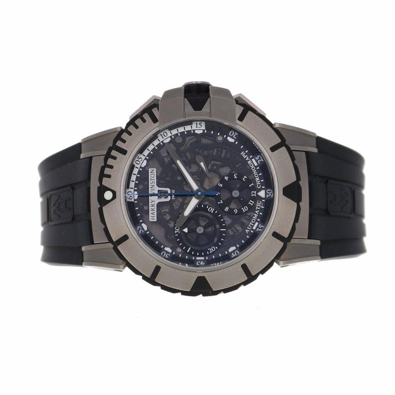 Harry Winston Zalium Ocean Sport Chronograph Wristwatch 2