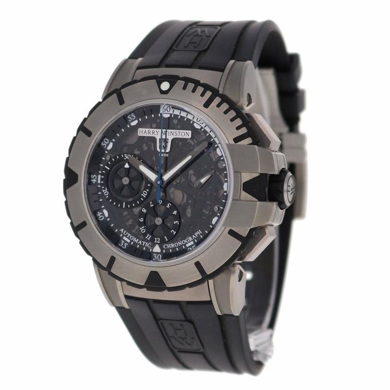 Harry Winston Zalium Ocean Sport Chronograph Wristwatch 3