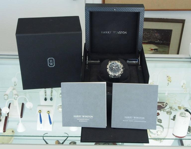 Harry Winston Zalium Ocean Sport Chronograph Wristwatch 4