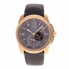 Cartier Rose Gold Chocolate Brown Dial Calibre de Cartier Automatic Wristwatch