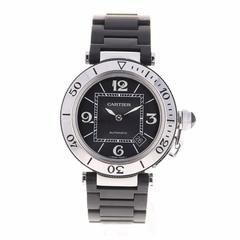 Cartier Stainless Steel Pasha Seatimer Rubber Automatic Wristwatch