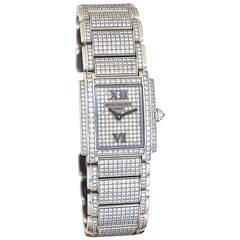 Patek Philippe Ladies White Gold Twenty 4 Diamond Quartz Wristwatch