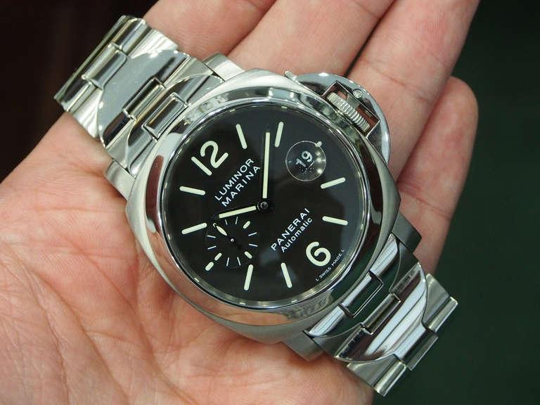 Panerai Stainless Steel Luminor Marina Wristwatch with ...