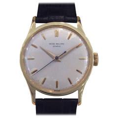 Patek Philippe Yellow Gold Calatrava Mechanical Wind Wristwatch Ref 570