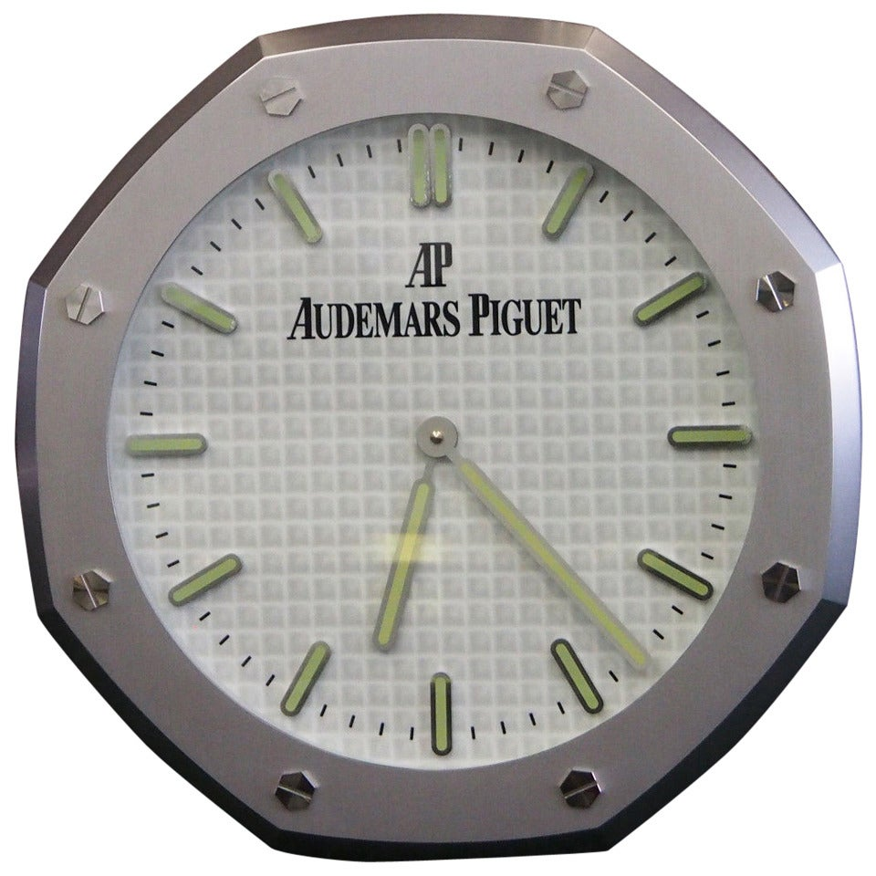 Retailers wall clock in the form of audemars piguet royal oak retailers wall clock in the form of audemars piguet royal oak watch 1 amipublicfo Gallery