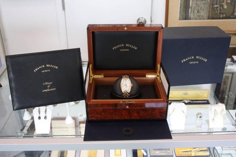 buy popular 93a2a 77dd5 FRANCK MULLER Master Banker 5850 MB 18k Rose Gold w/ Bracelet 5850MB