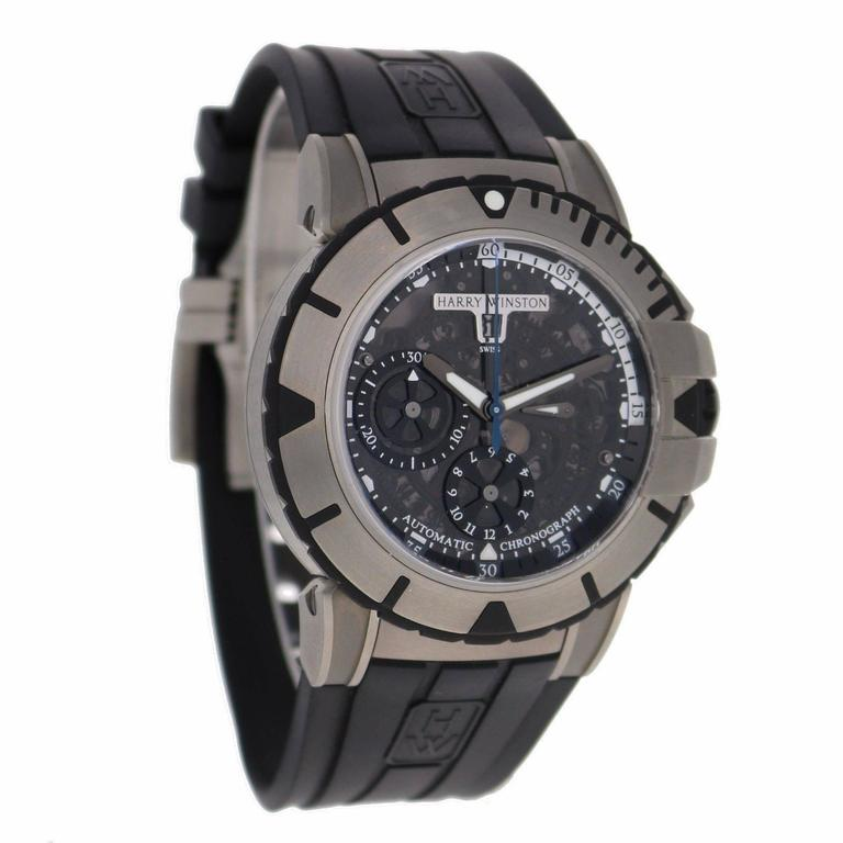 Harry Winston Zalium Ocean Sport Chronograph Wristwatch 8