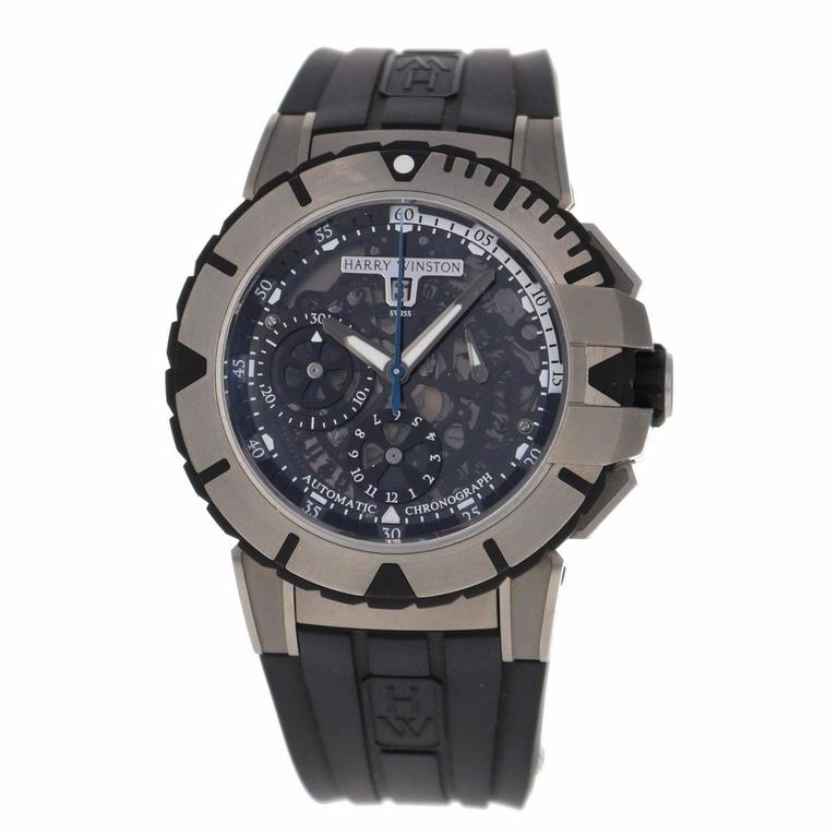 Harry Winston Zalium Ocean Sport Chronograph Wristwatch 7