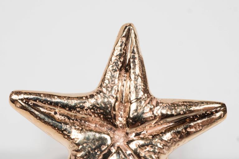 Seaman Schepps Mid-Century Modernist Gold Starfish Earrings For Sale 4