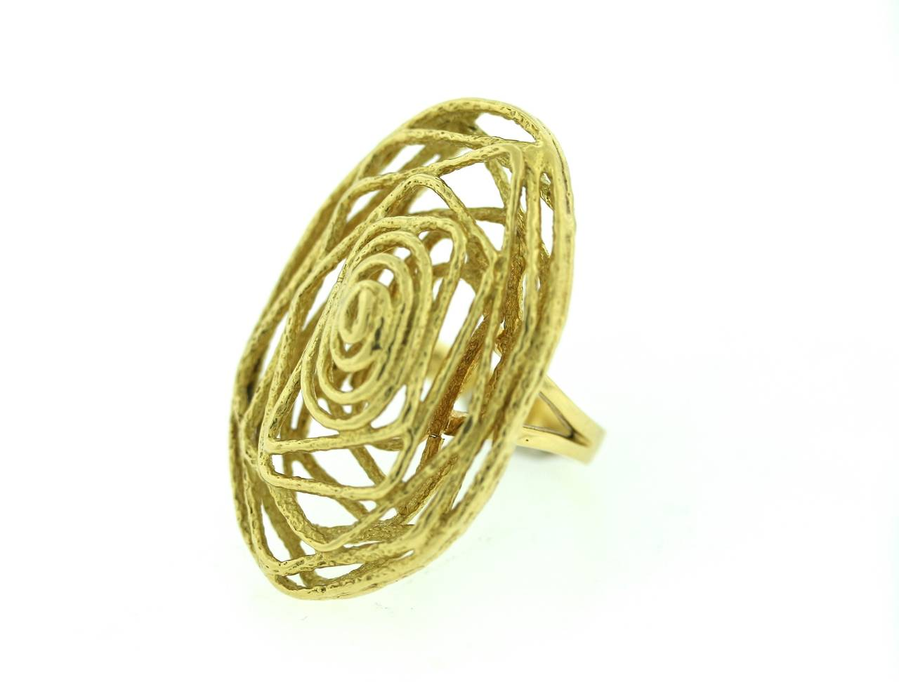 1970s Abstract Gold Ring At 1stdibs. Semi Mount Wedding Rings. Argyle Engagement Rings. Attached Wedding Rings. Nightwing Rings. Vaccaro Engagement Rings. Gold 2015 Engagement Rings. Gotham Engagement Rings. Wide Band Wedding Rings