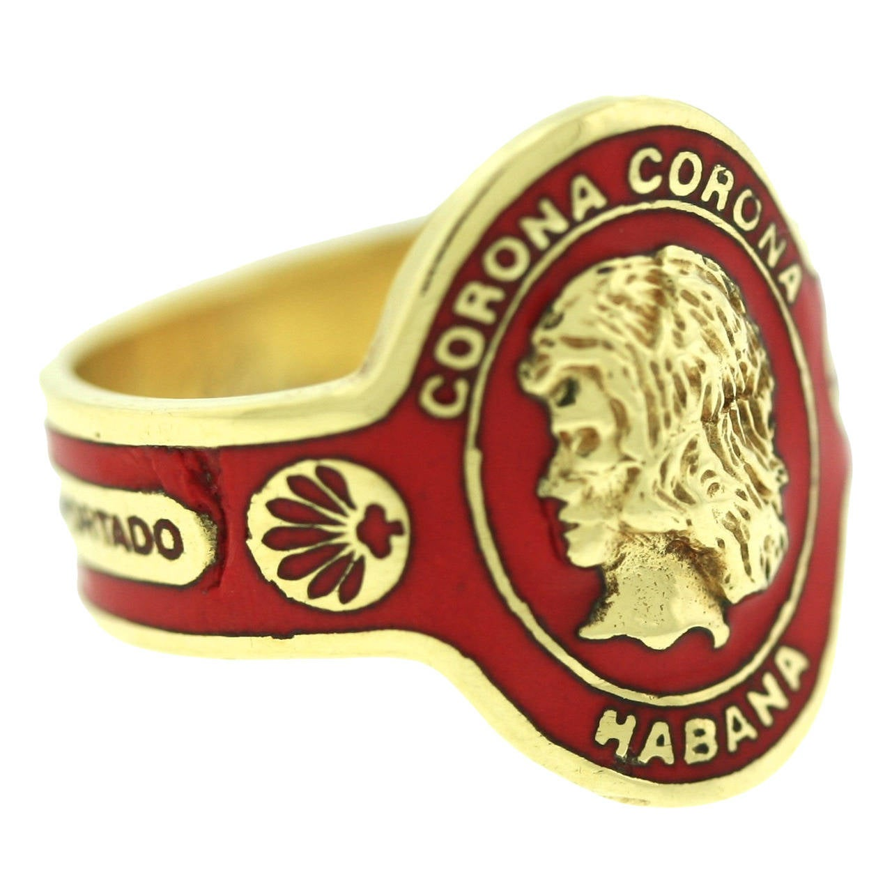 1970s cartier enamel gold cigar band ring at 1stdibs