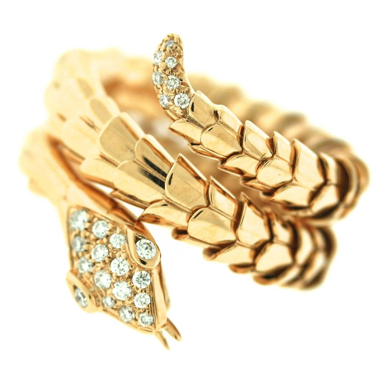 illario gold serpent ring at 1stdibs
