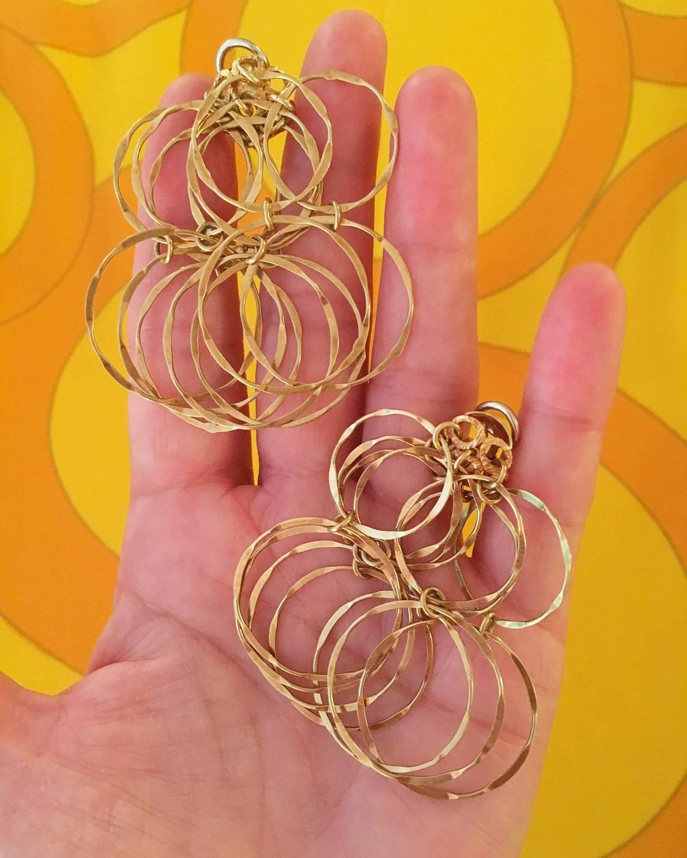1970s Cartier Gold Multi-Hoop Earrings For Sale at 1stdibs