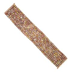 Ice Diamond Gold Tennis Bracelet