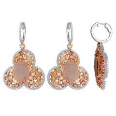 Slice Diamond Gold Earring