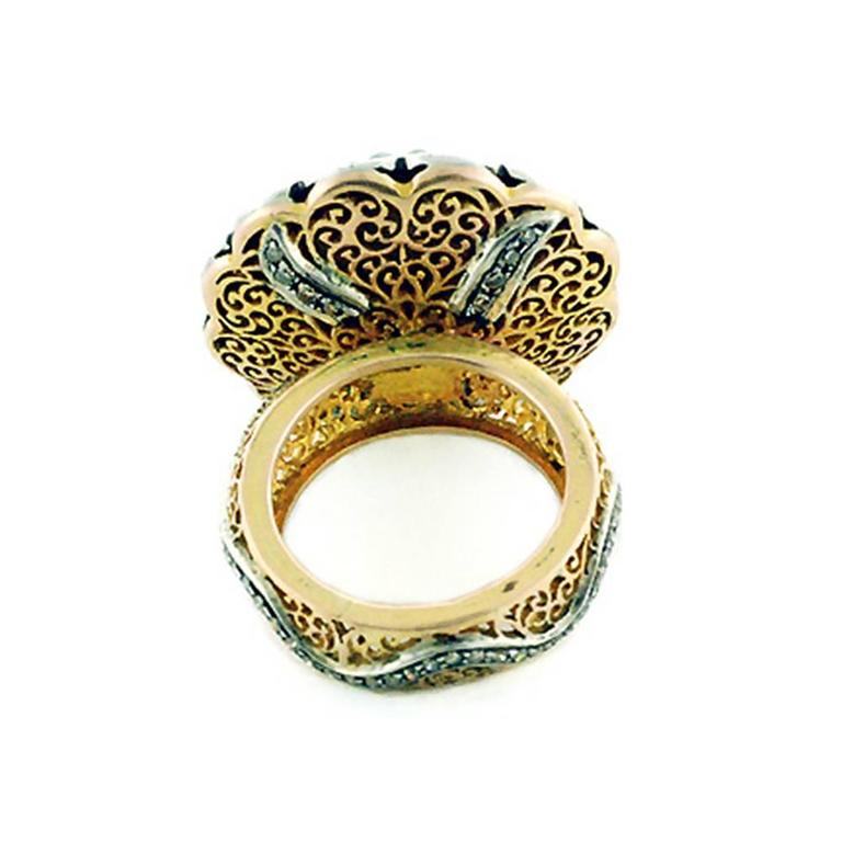 antique looking emerald gold ring for sale at 1stdibs