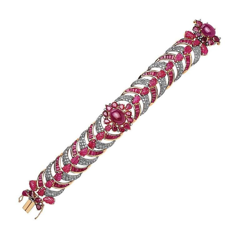 Diamond  Ruby bracelet 2