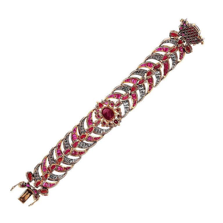 Diamond  Ruby bracelet 3
