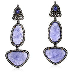 Tanzanite Earring with Diamonds