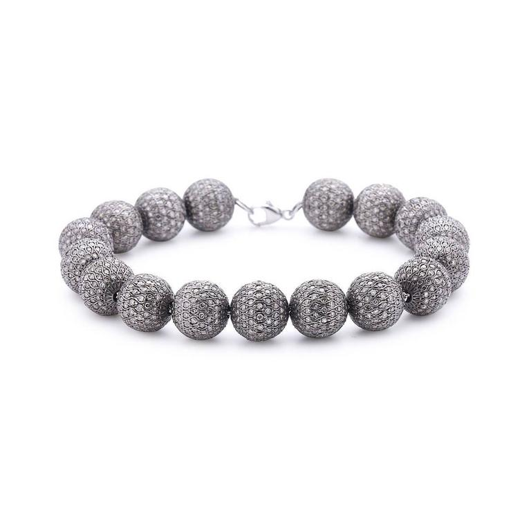 Designer Tennis Champagne Diamond Ball Bracelet Is An Excellent Piece To Match Any Of Your Black