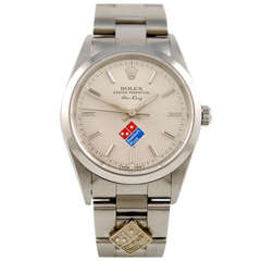 Rolex Stainless Steel Air-King Wristwatch with Domino's Pizza Dial circa 2004