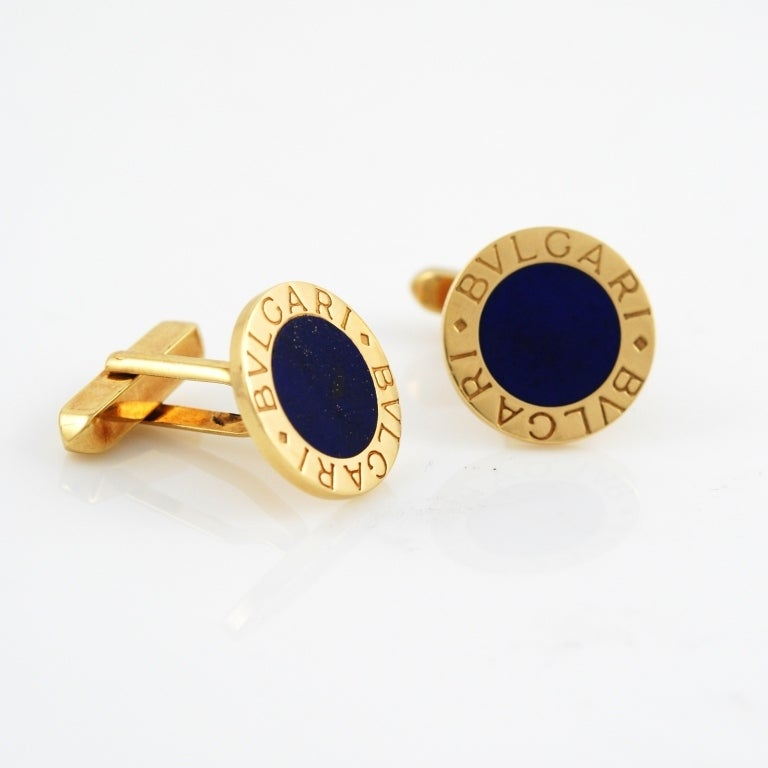 bulgari lapis lazuli gold cufflinks 2