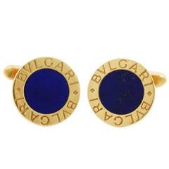 Bulgari Lapis Lazuli Gold Cufflinks