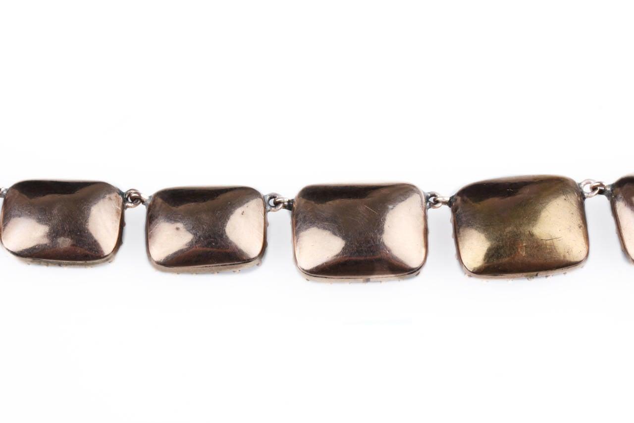 Georgian Garnet Paste Gold Riviere Necklace 4