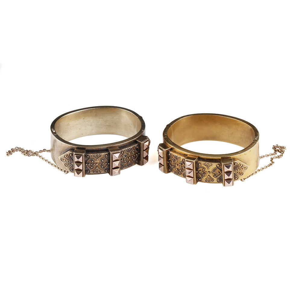 Victorian Era Matched Set of Gold Bangles 5