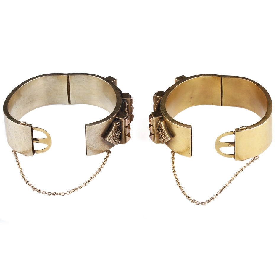 Victorian Era Matched Set of Gold Bangles 4