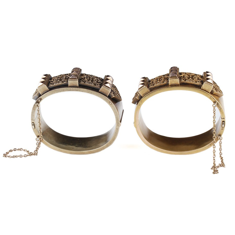 Victorian Era Matched Set of Gold Bangles 3