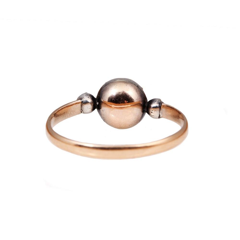 Georgian Era Emerald Diamond Platinum Ring 3