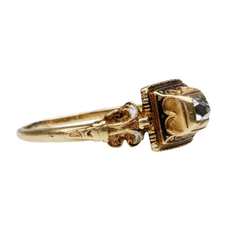 16th Century Point Cut Diamond Gold Ring For Sale At 1stdibs