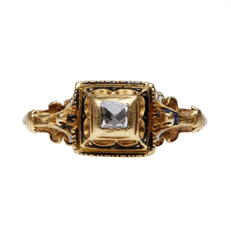 poinçon or bracelet 16th century point cut gold ring for sale at 1stdibs 1233
